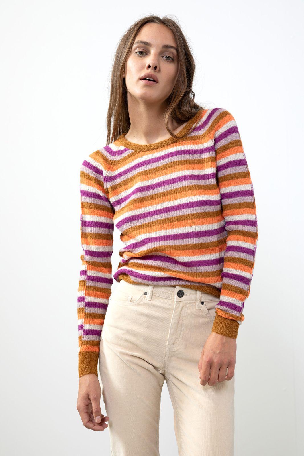 Mulitcolor trui alpacawol - Dames | Sissy-Boy