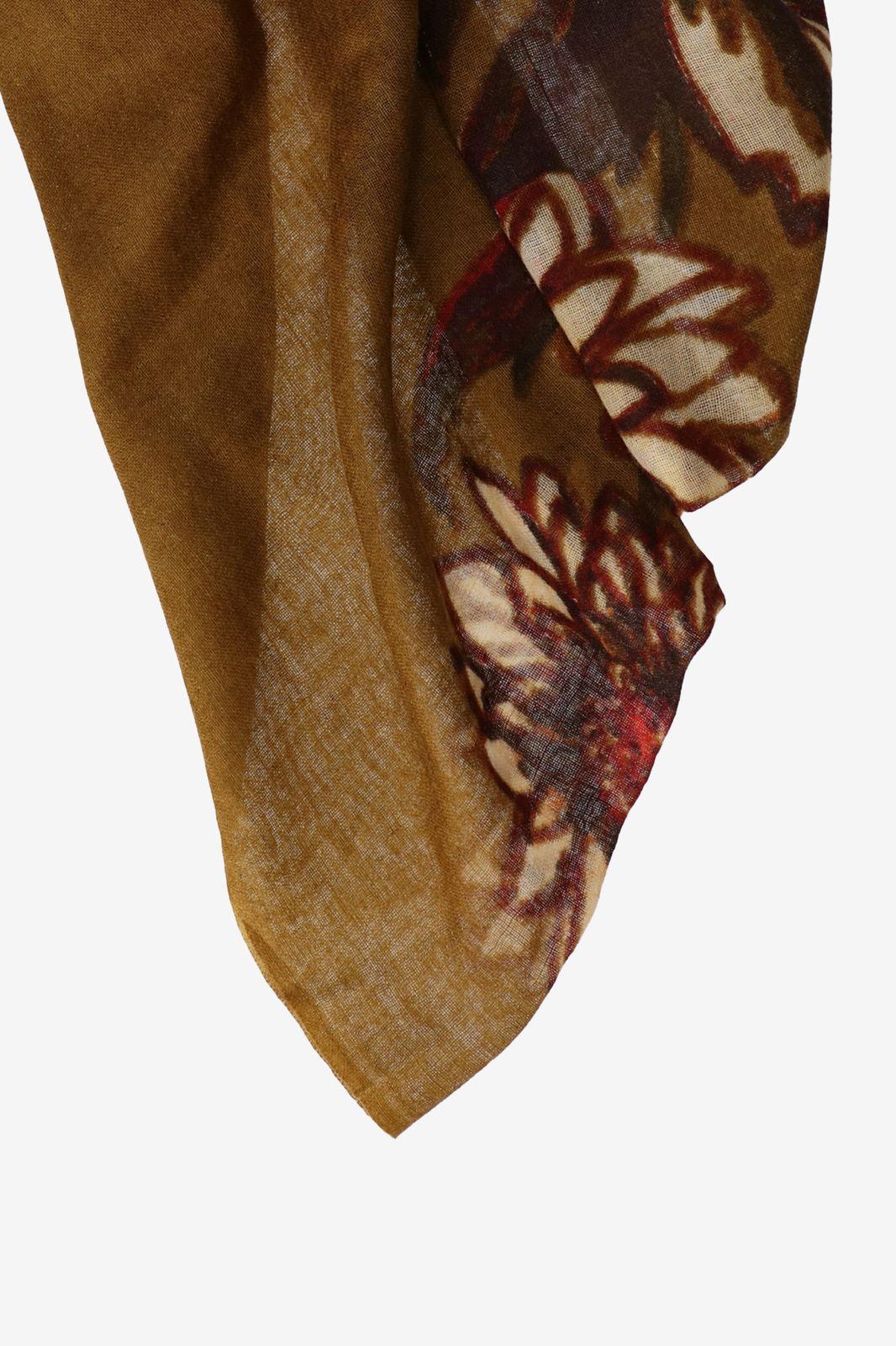 Wollen sjaal met bloemen print - Dames   Sissy-Boy