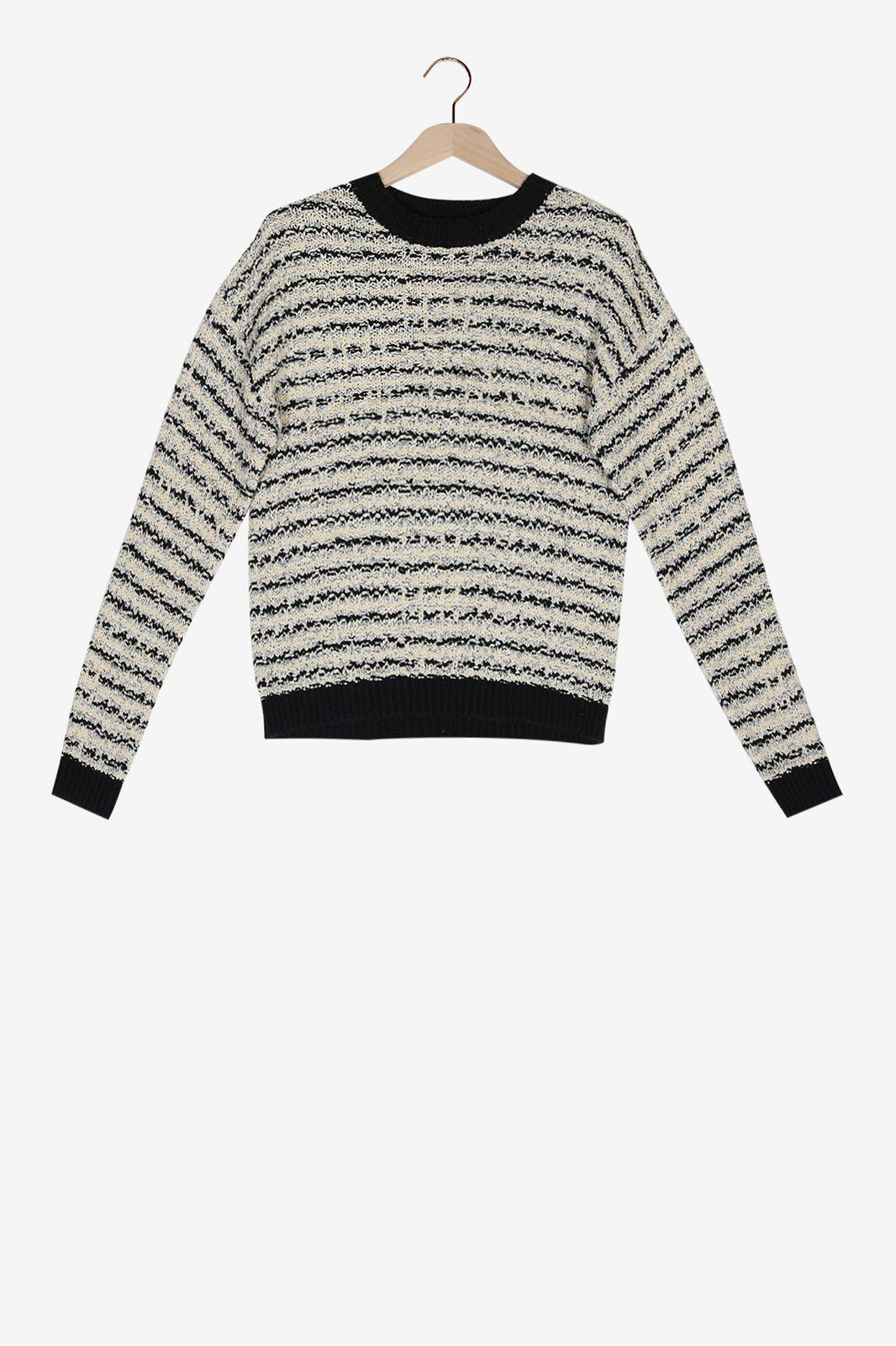 Donkerblauwe knitted trui