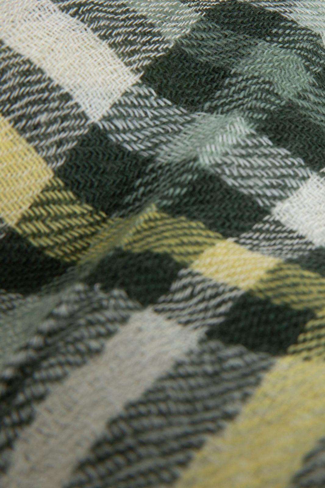 Wollen sjaal met ruit