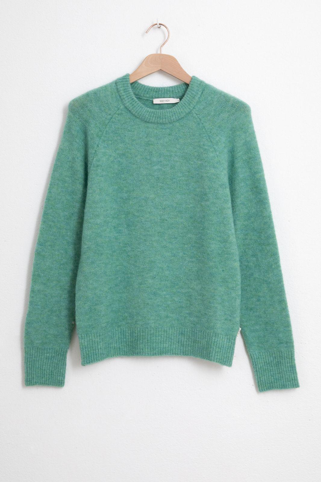 Groene wollen pullover - Dames | Sissy-Boy