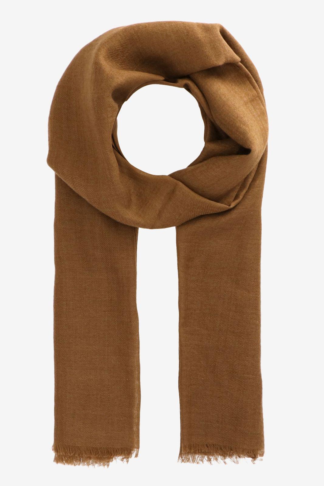 Khaki sjaal van wol zijde mix - Dames   Sissy-Boy