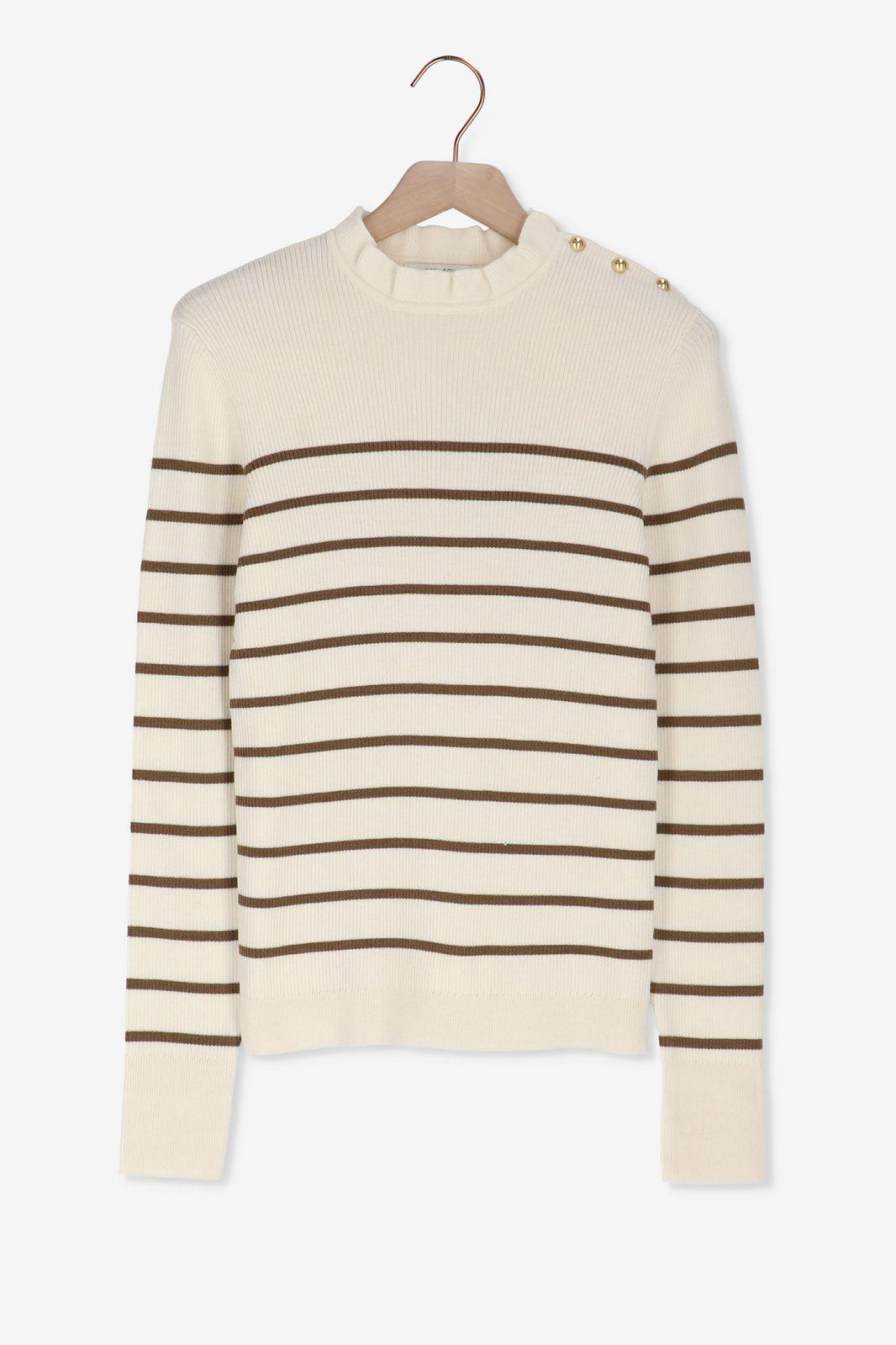 Striped pullover met ruffle neck - Dames | Sissy-Boy