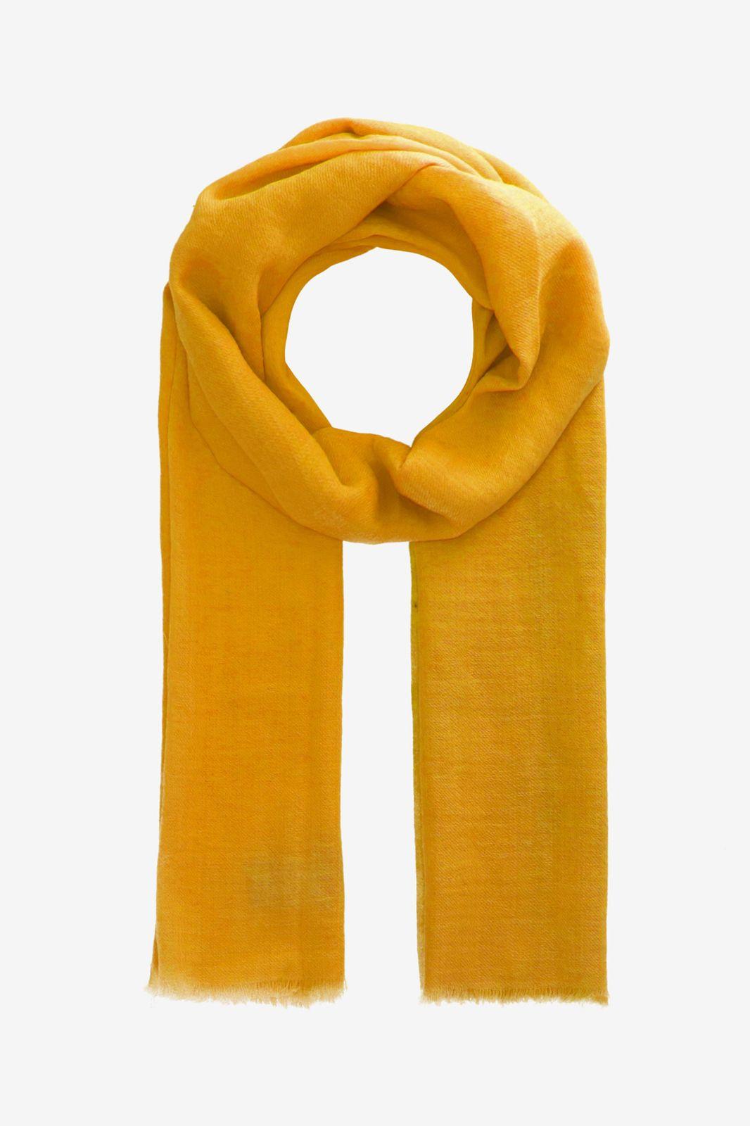 Gele sjaal van wol en zijde mix - Dames | Sissy-Boy
