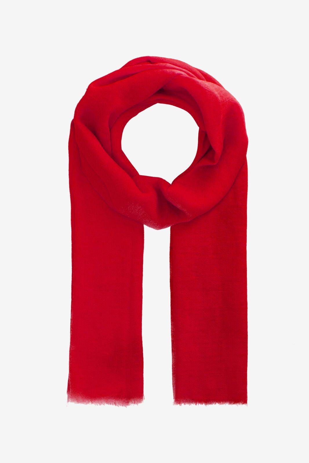 Rode sjaal van wol en zijde mix - Dames | Sissy-Boy