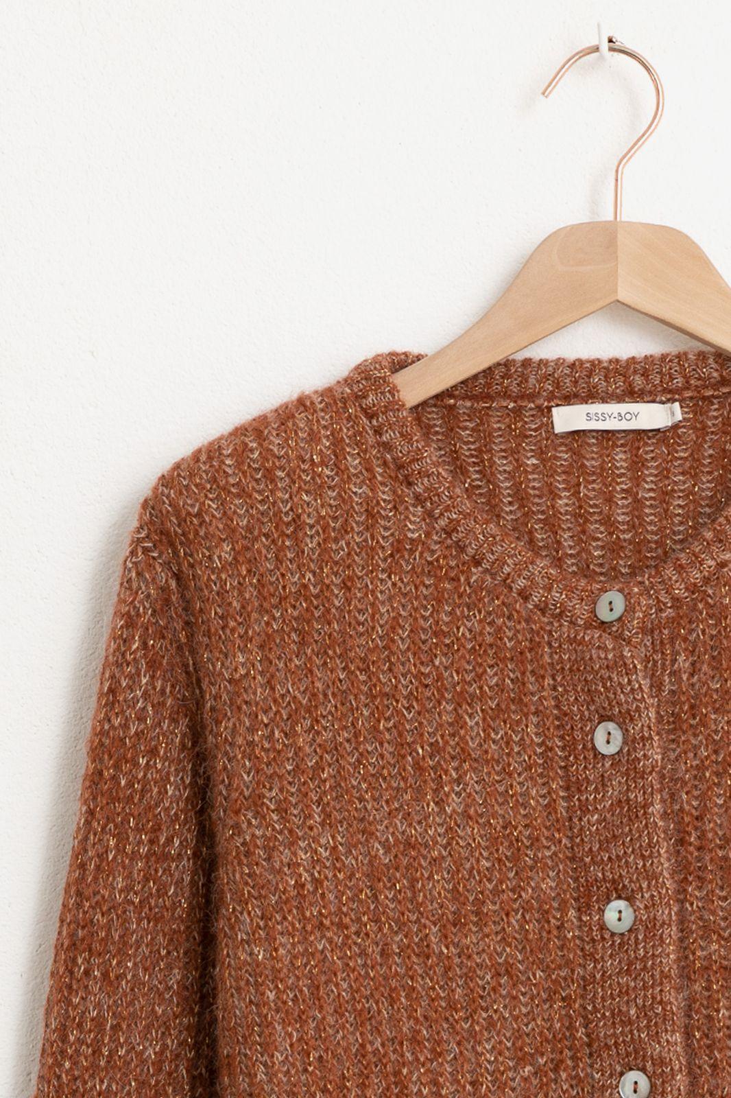 Rood/bruin vest - Dames | Sissy-Boy
