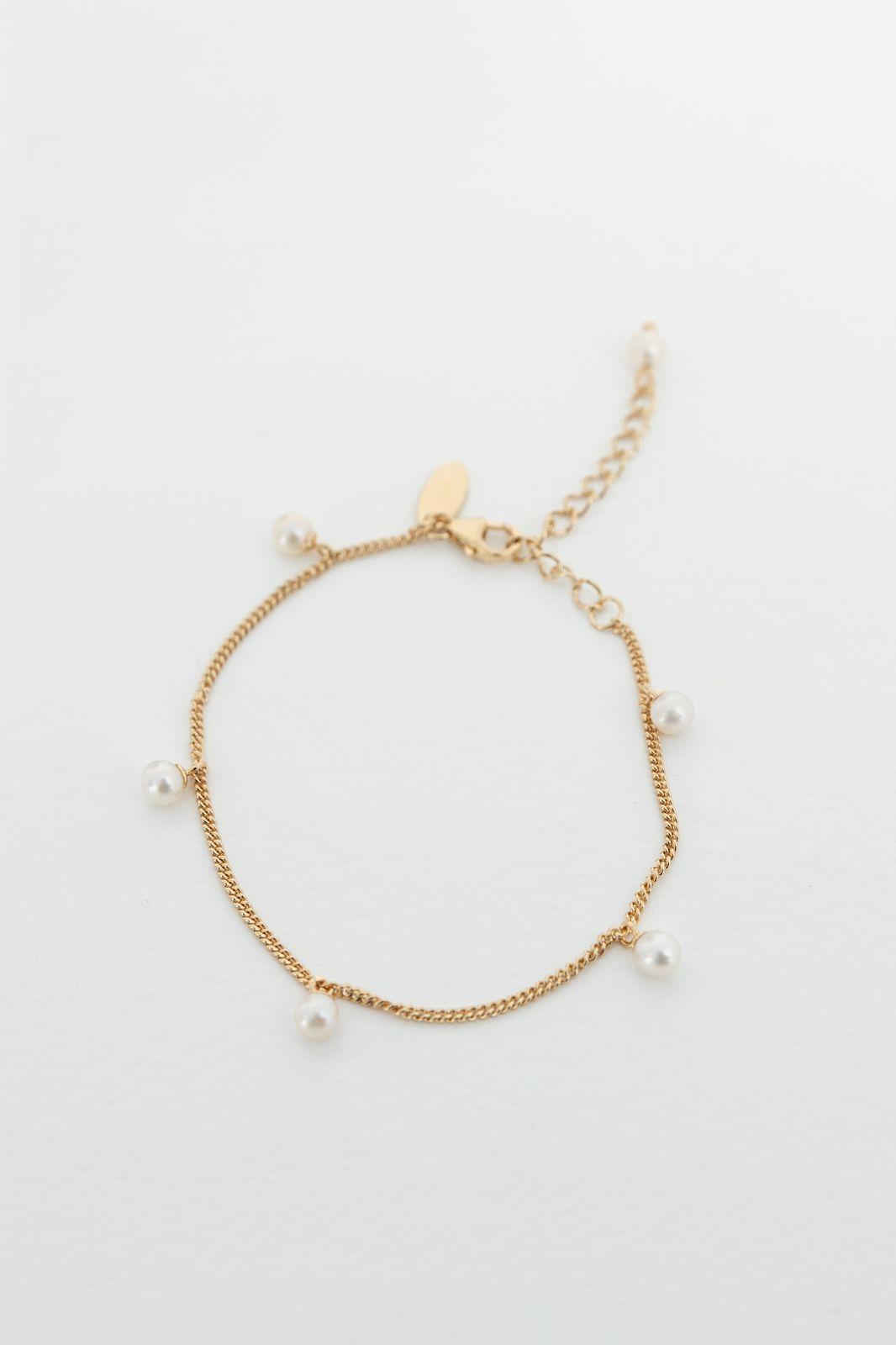 Goldplated armband met parels