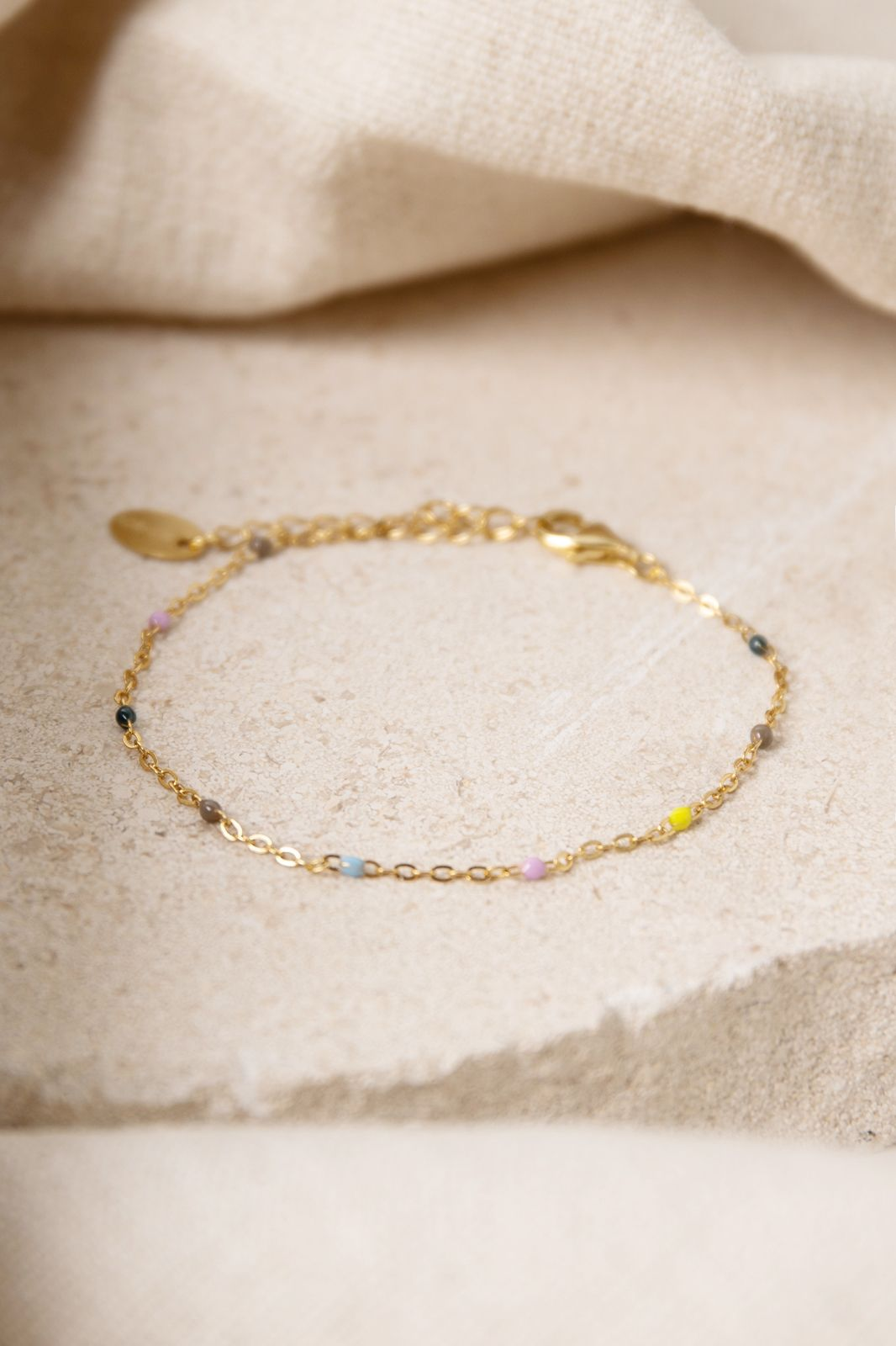 Goldplated armband met multicolor emaille - Dames | Sissy-Boy