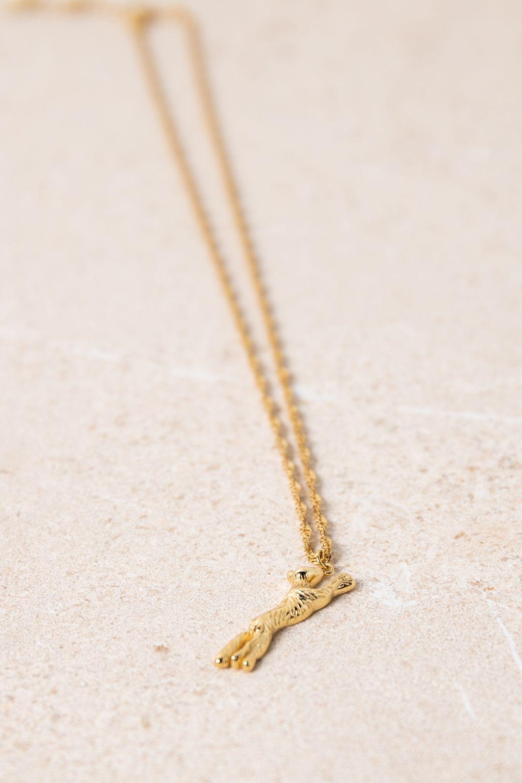 Goldplated ketting met vosje