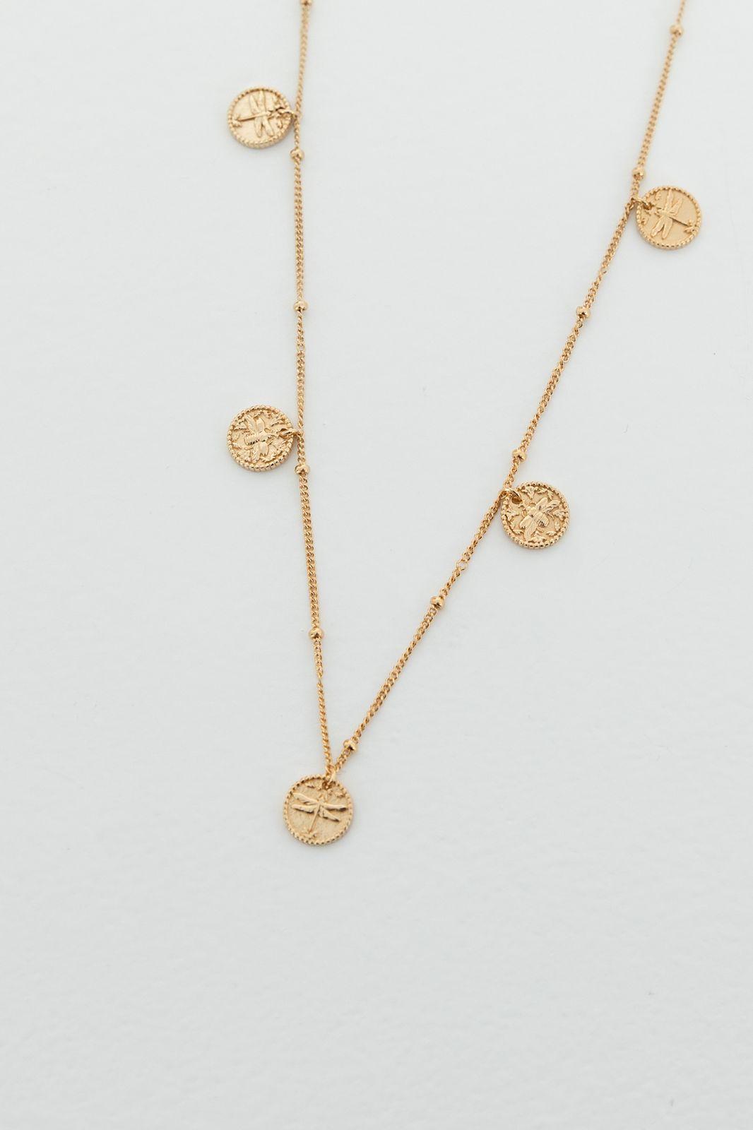 Goldplated ketting met muntjes - Dames | Sissy-Boy