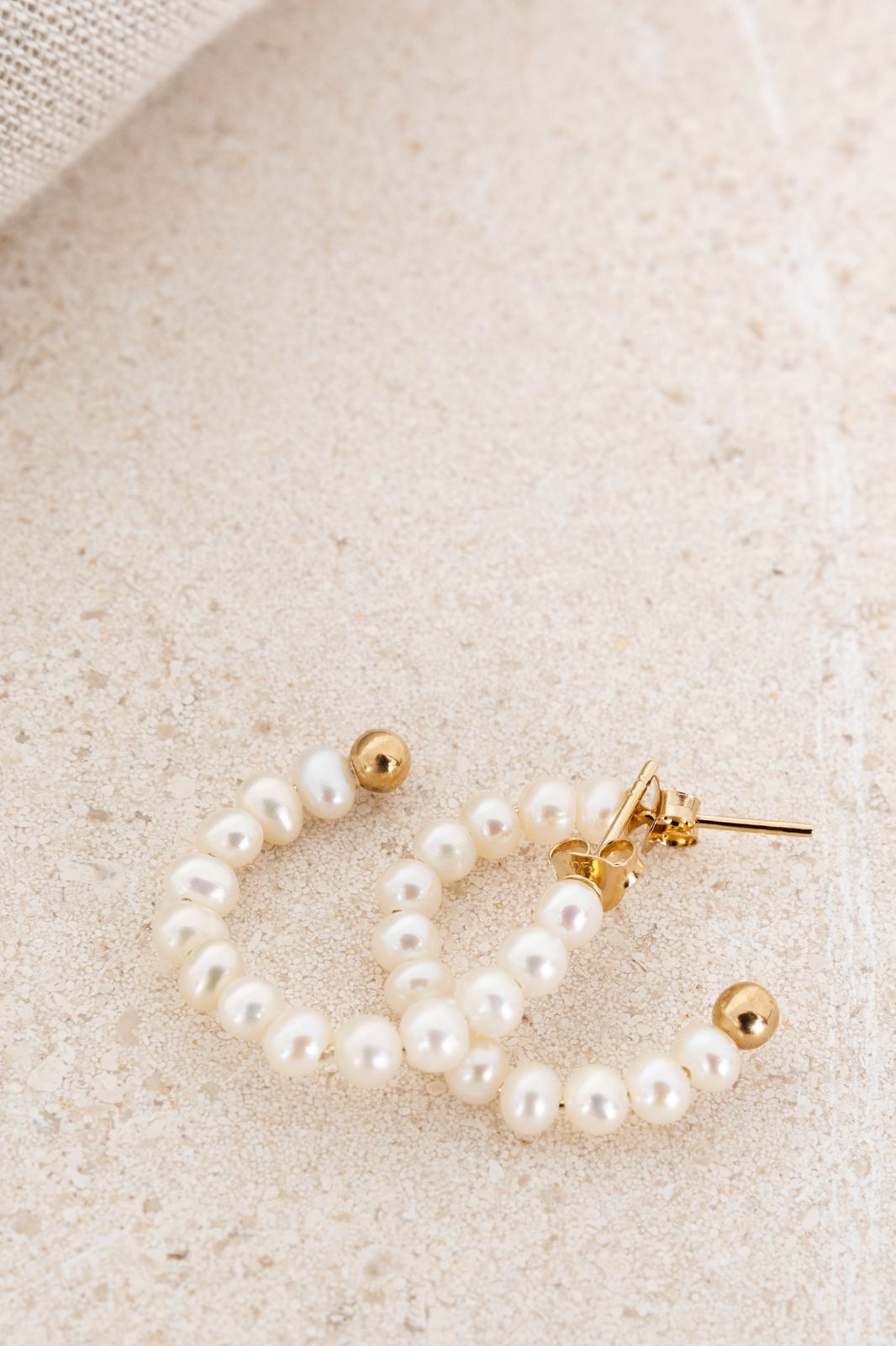 Goldplated hoops met parels - Dames | Sissy-Boy