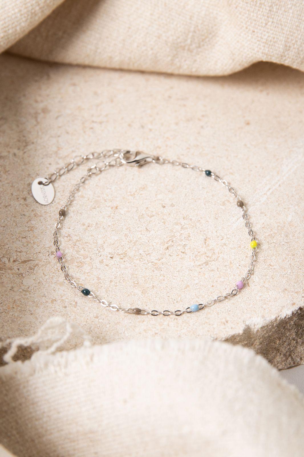 Zilveren armband met multicolor emaille - Dames | Sissy-Boy