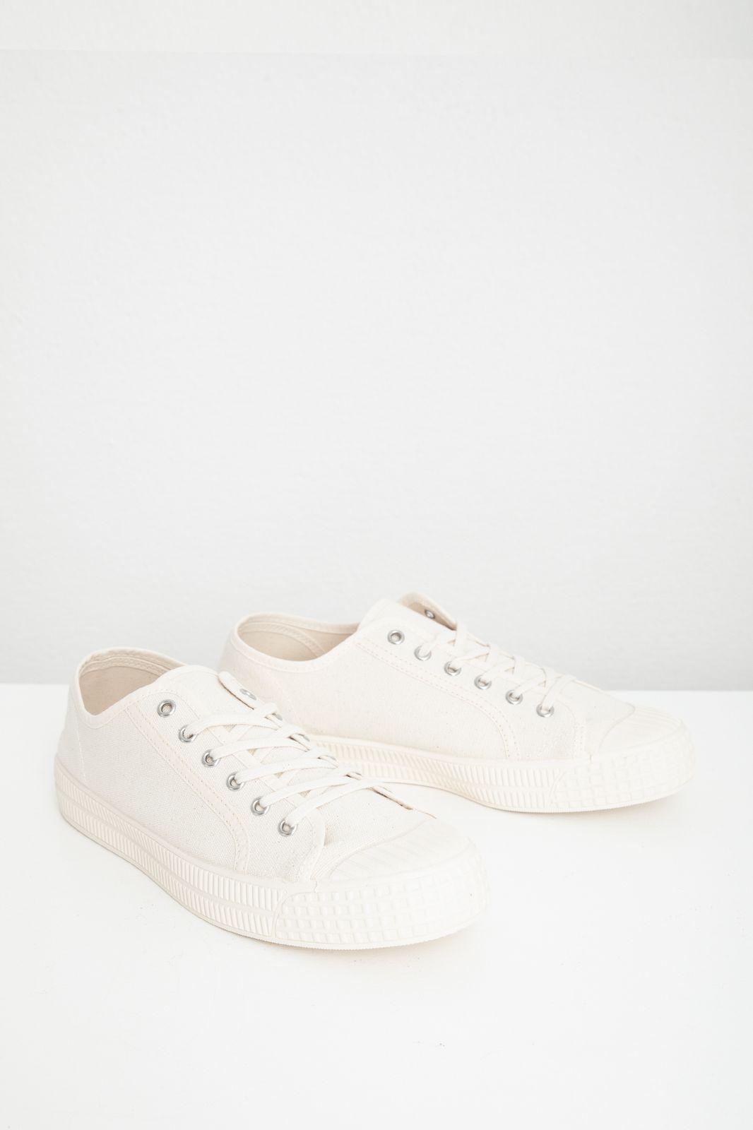 Lage witte canvas sneaker - Heren | Sissy-Boy