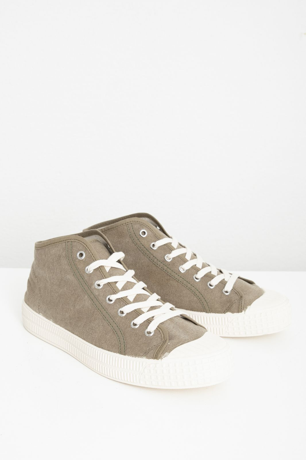 Hoge taupe canvas sneakers - Heren   Sissy-Boy