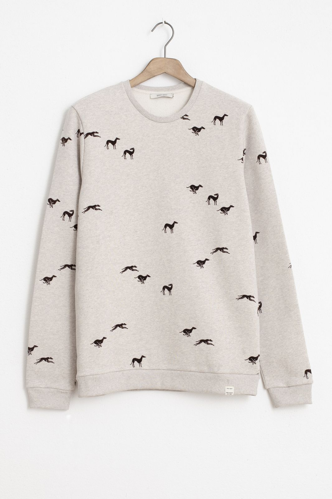 Beige sweater met print - Heren | Sissy-Boy