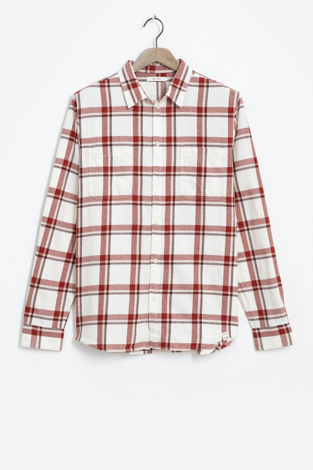 Beige geruit overhemd - Heren   Sissy-Boy