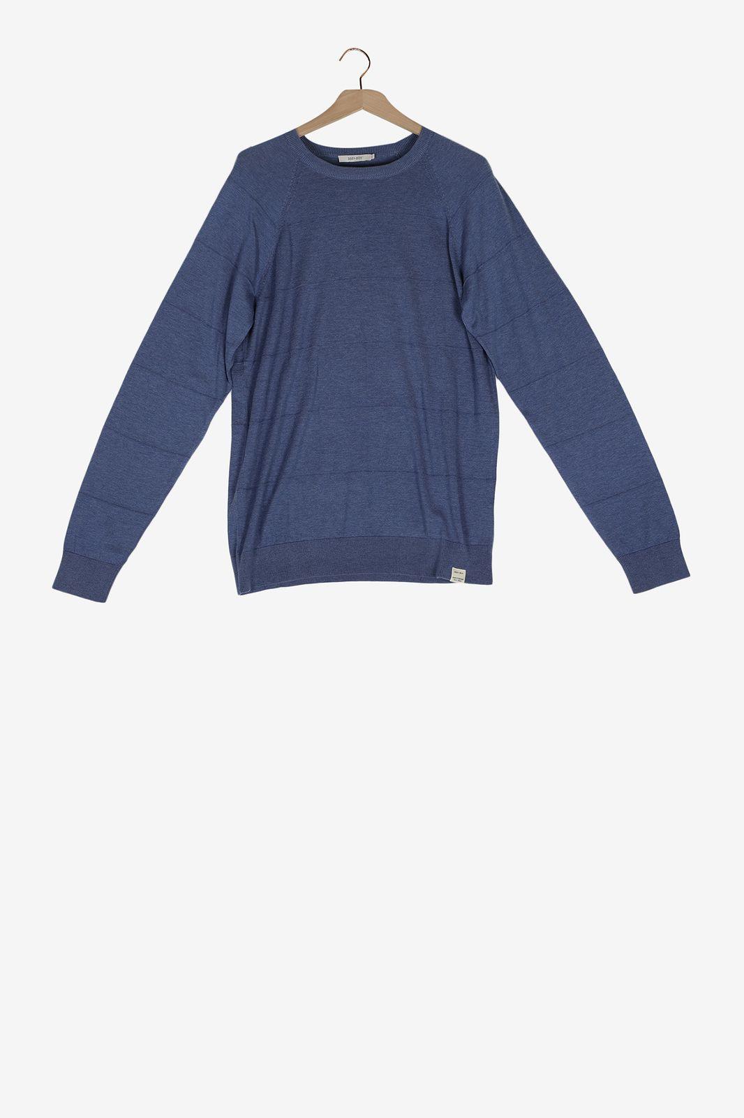 Blauwe knitted trui