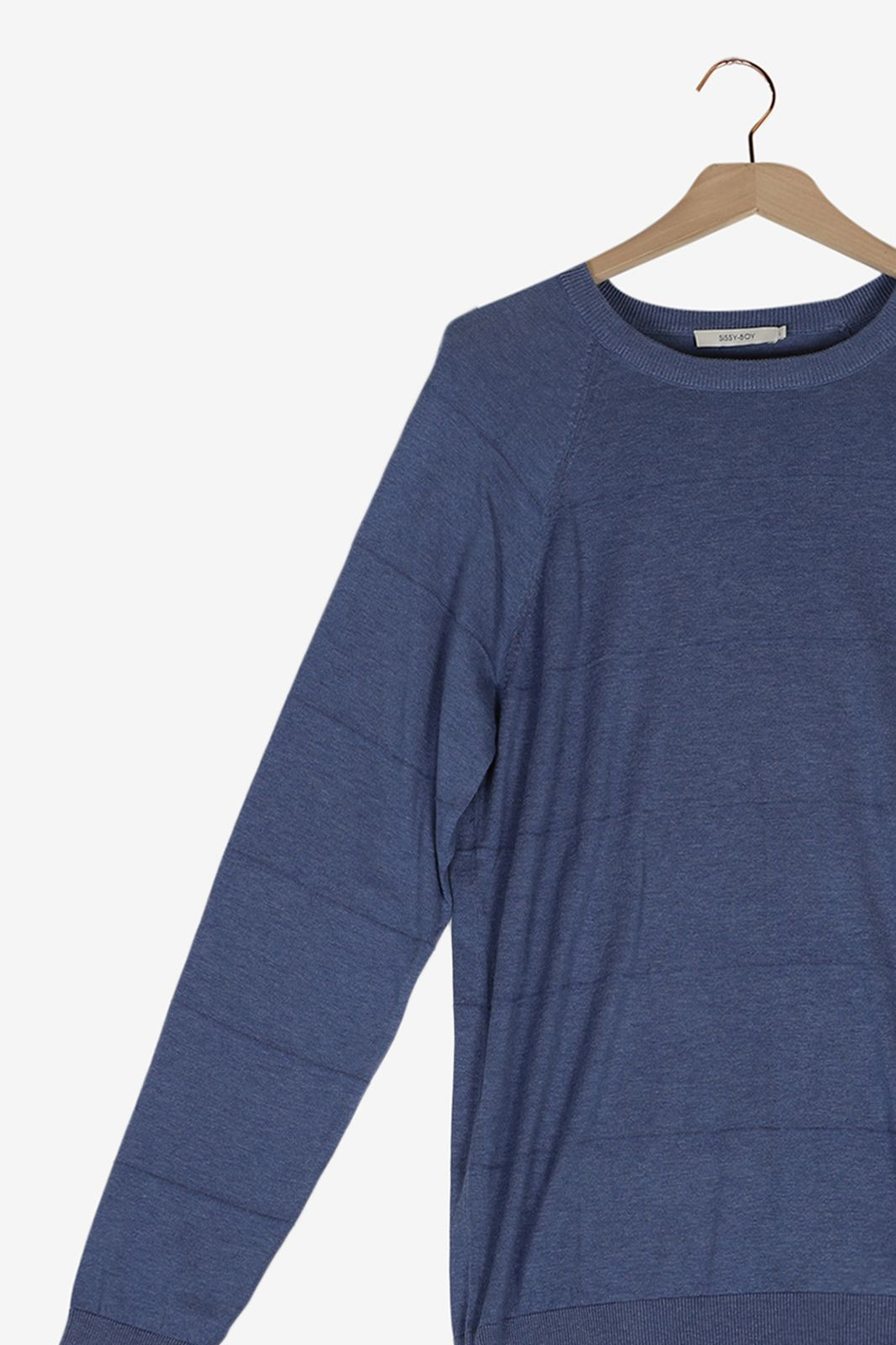 Blauwe knitted trui - Heren   Sissy-Boy