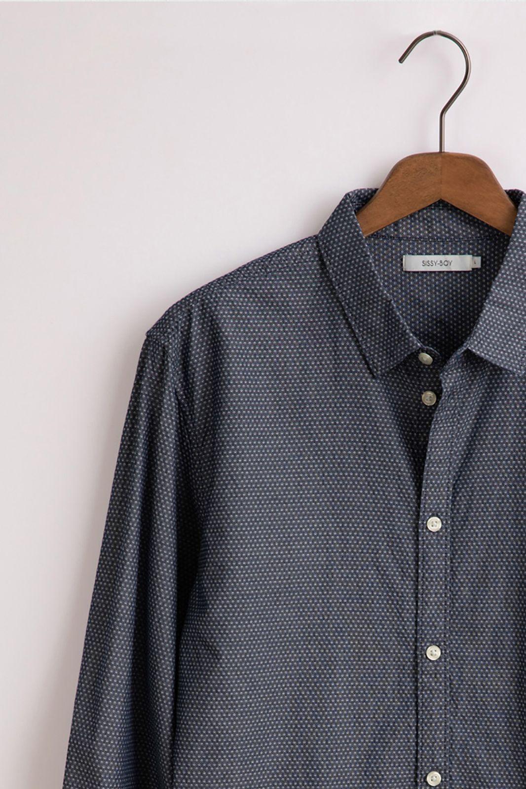 Donkerblauw Chambray dobby overhemd - Heren | Sissy-Boy