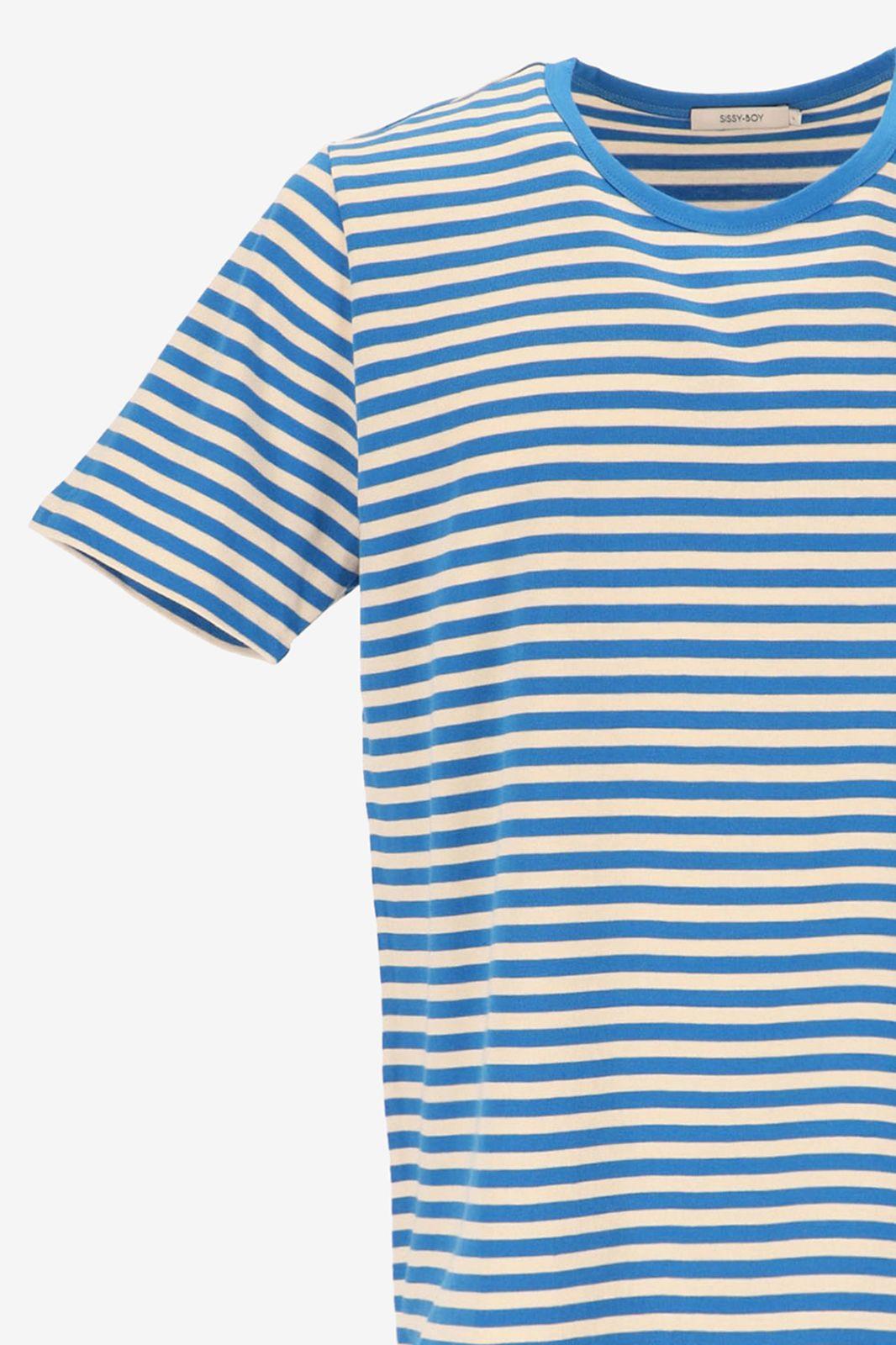 T-shirt met blauwe strepen