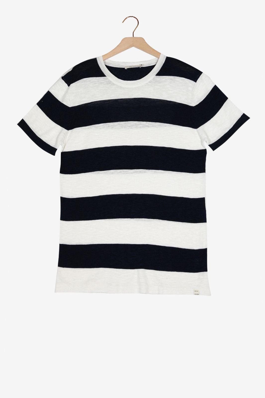 Blauw gestreept T-shirt - Heren | Sissy-Boy