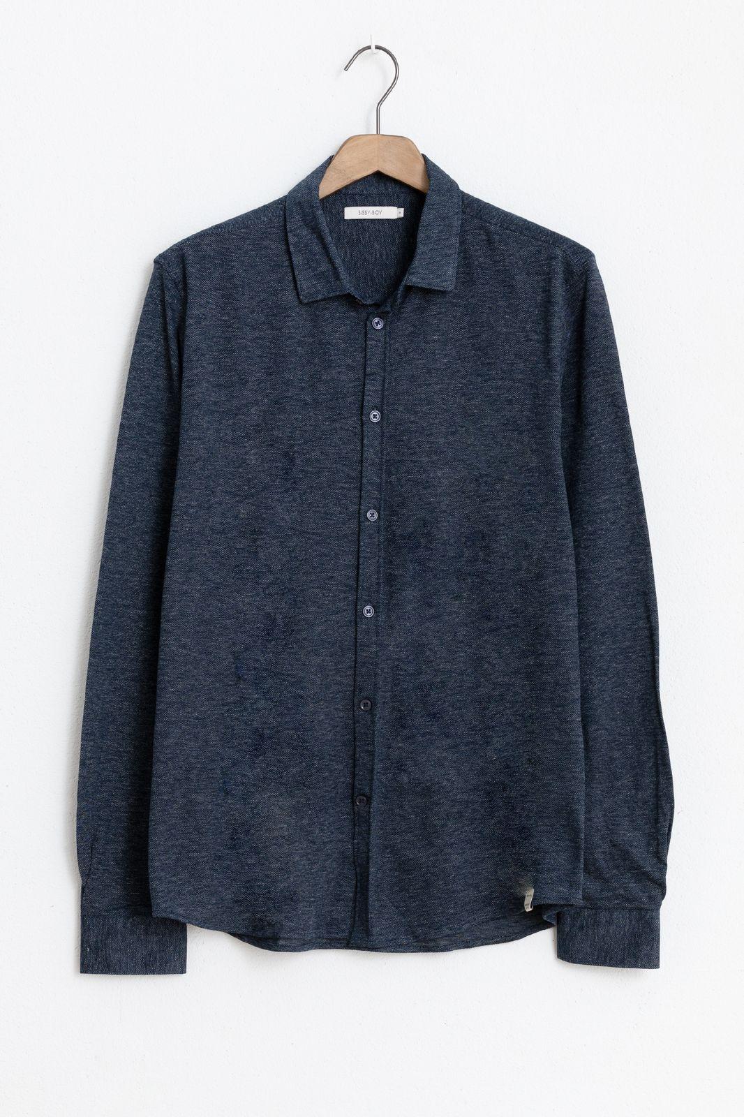 Blauw jersey overhemd - Heren | Sissy-Boy