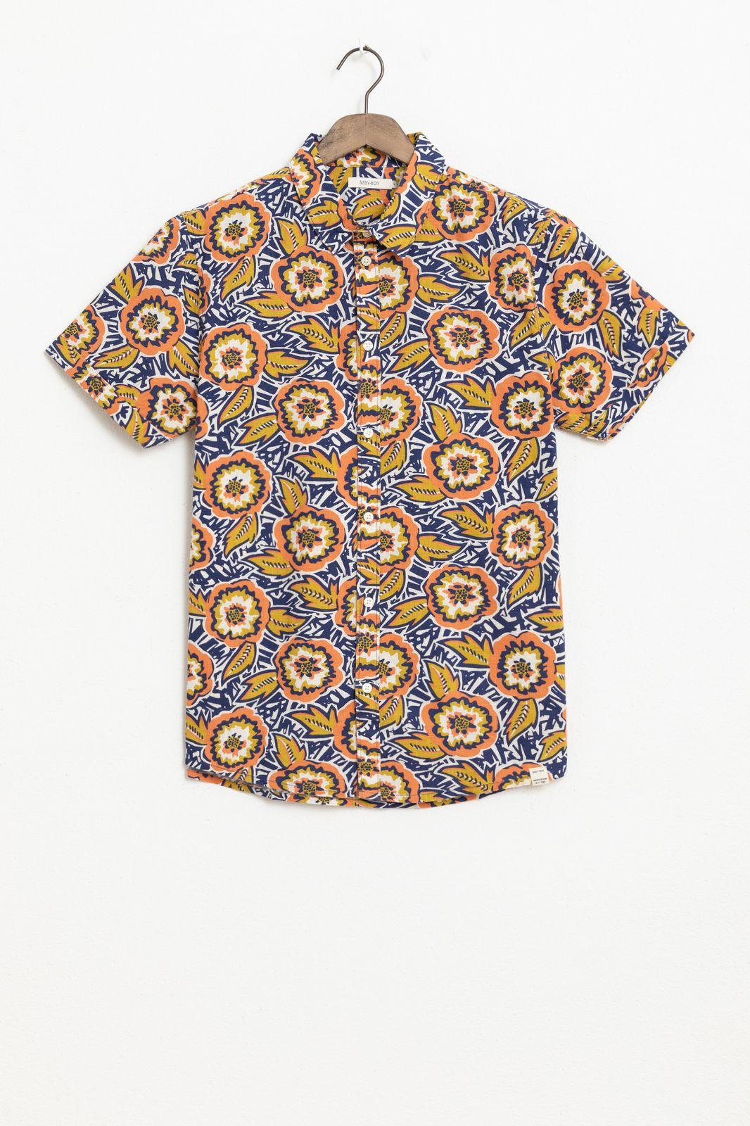 Multicolor overhemd met all over print - Heren | Sissy-Boy