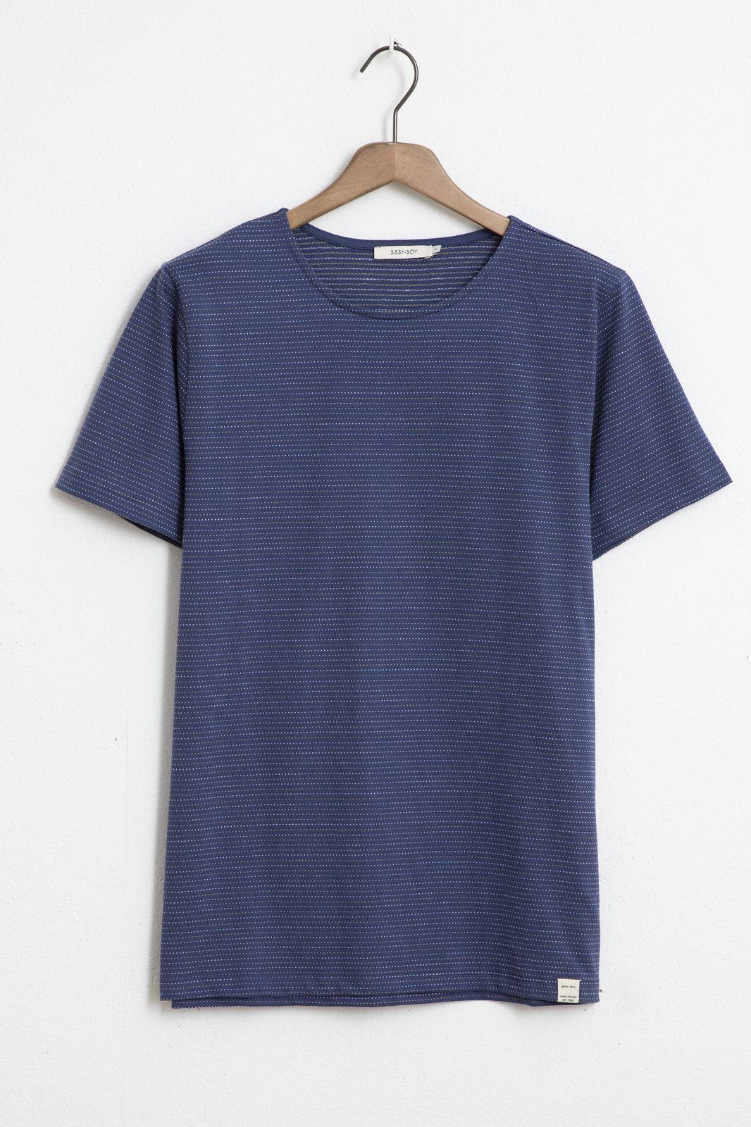 Blauw T-shirt met dots
