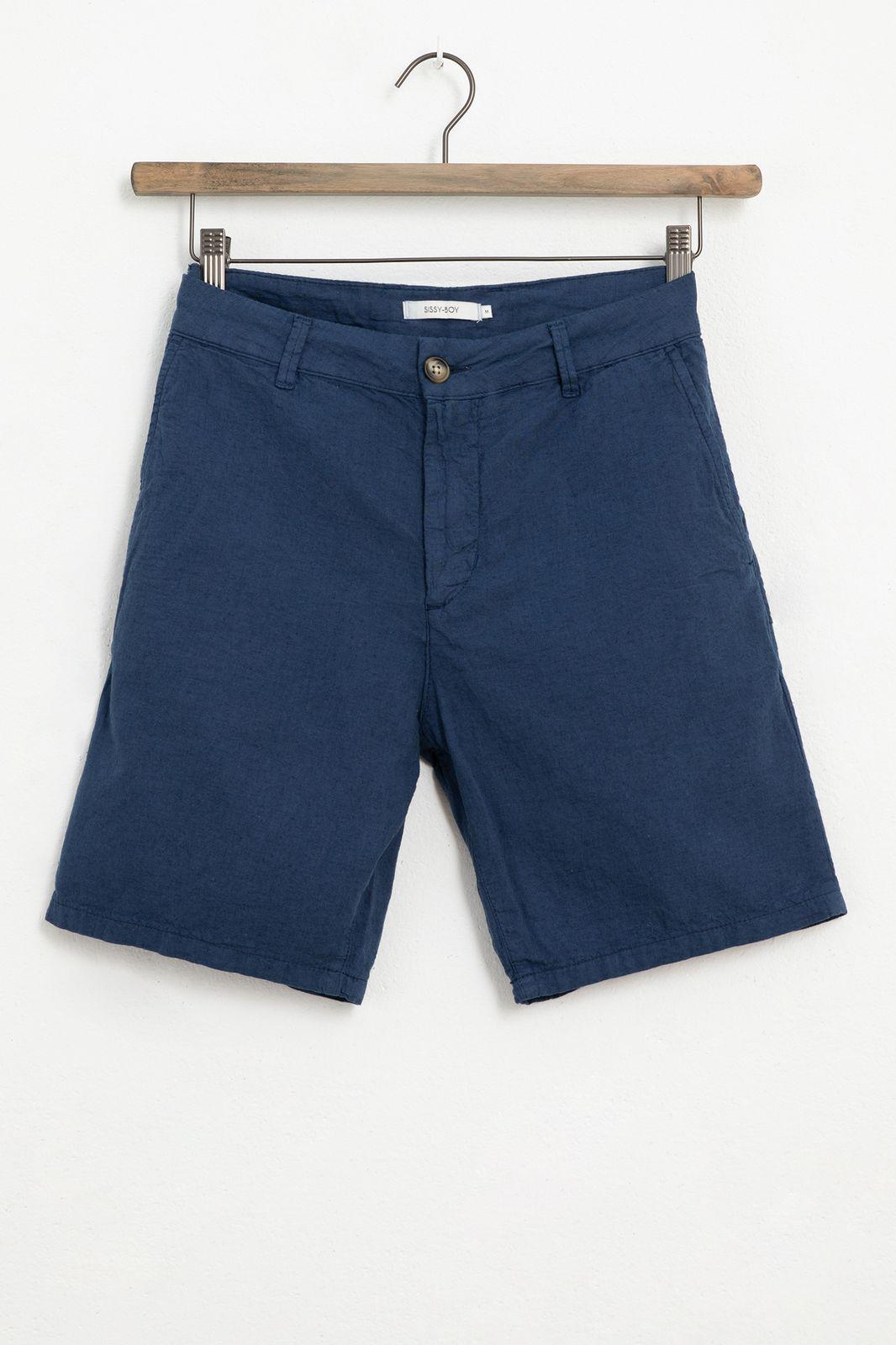 Donkerblauwe chino shorts