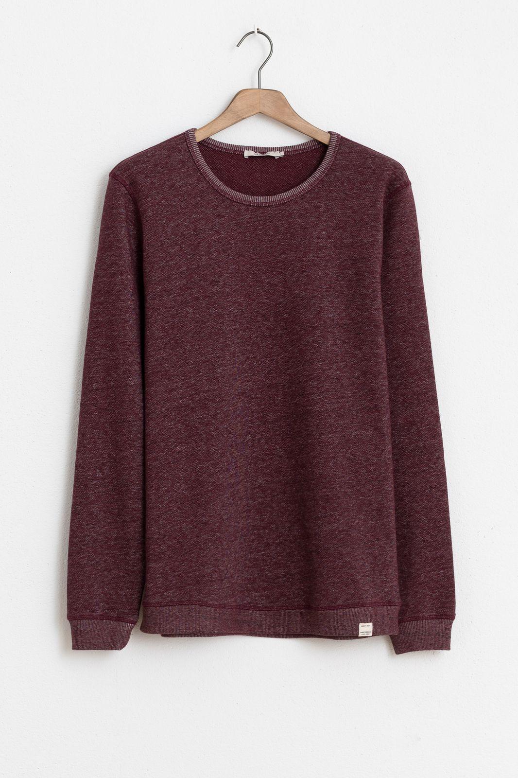 Bruin/paars t-shirt structuur - Heren | Sissy-Boy