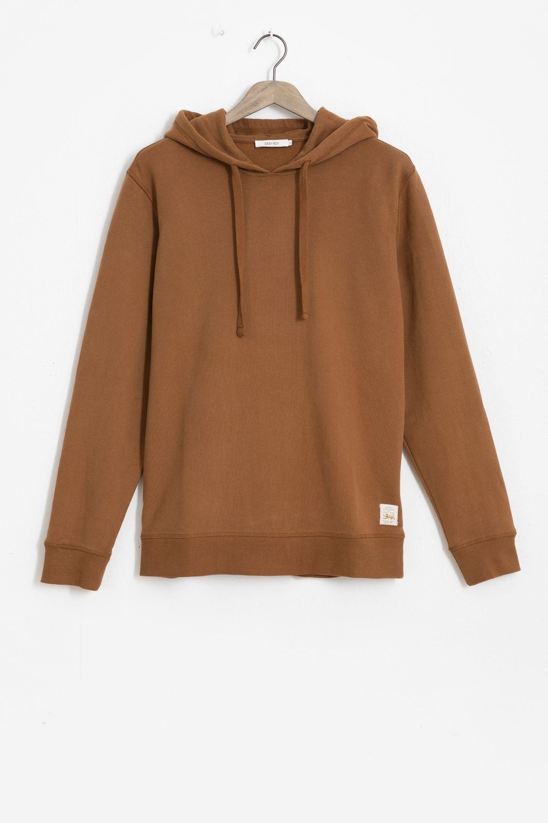 Bruine basic hoodie - Heren | Sissy-Boy