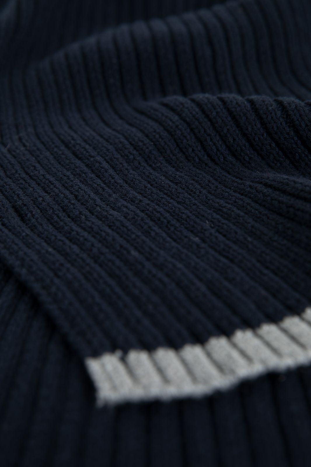 Donkerblauwe sjaal rib - Heren   Sissy-Boy