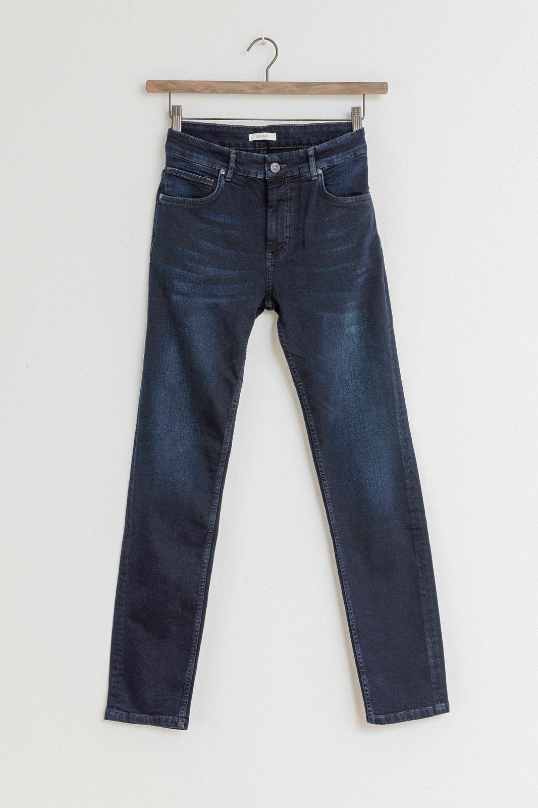 Donkerblauwe porter stretch jeans - Heren | Sissy-Boy