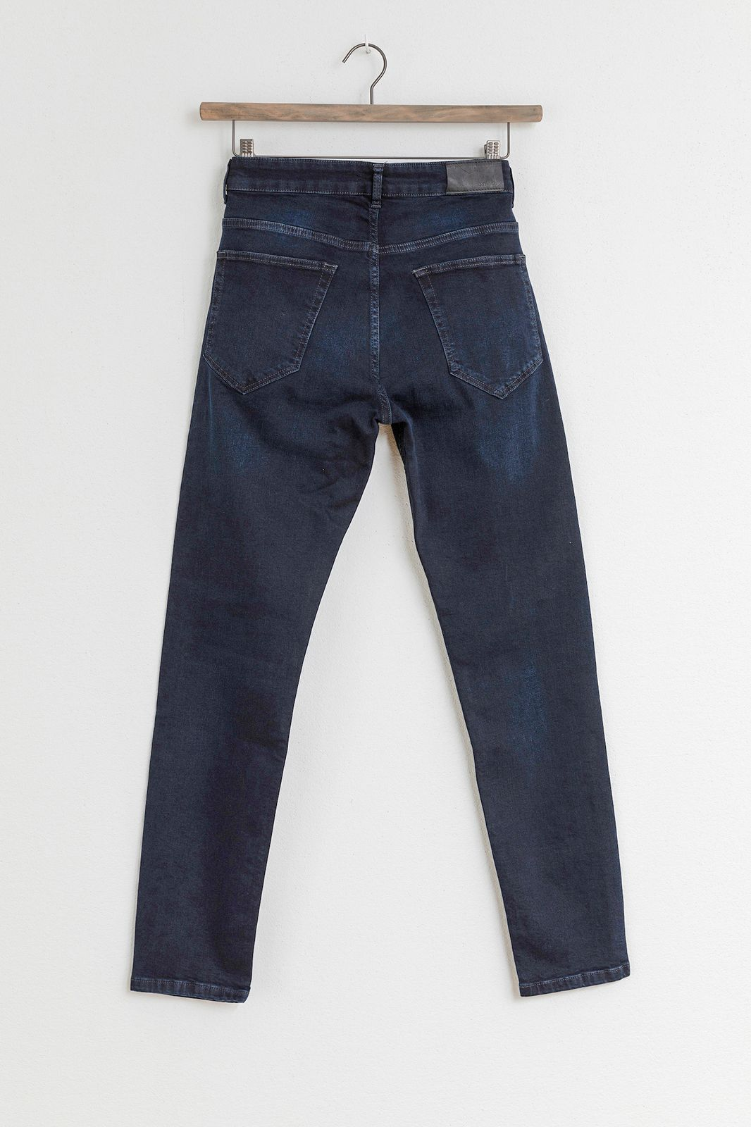Donkerblauwe porter stretch jeans