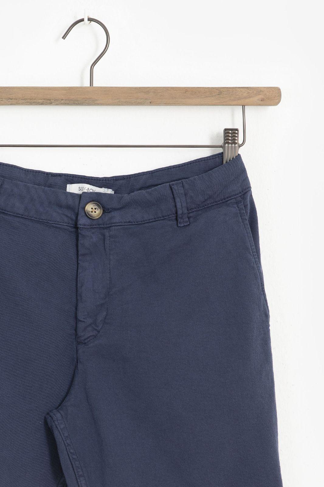 Donkerblauwe canvas shorts
