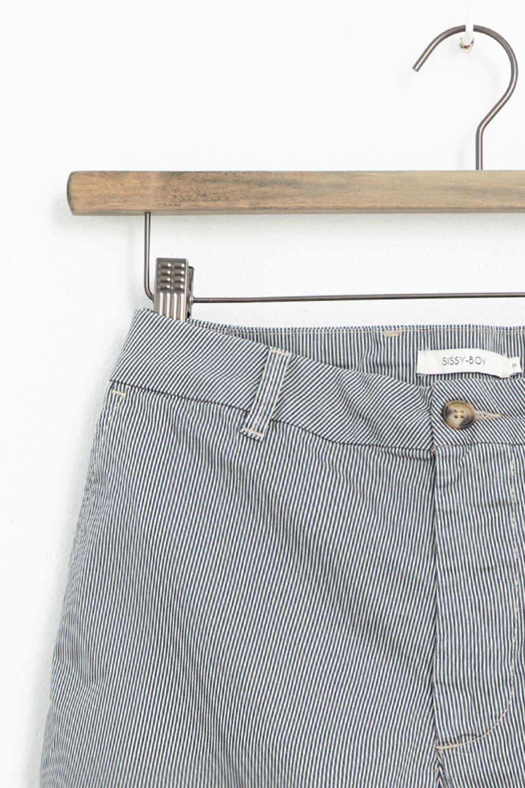 Blauw wit gestreepte chino shorts - Heren | Sissy-Boy