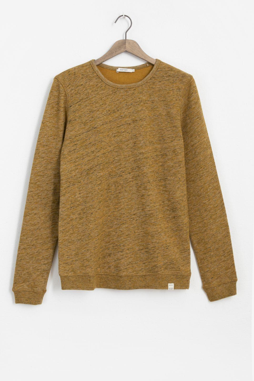 Okergele sweater melange - Heren   Sissy-Boy