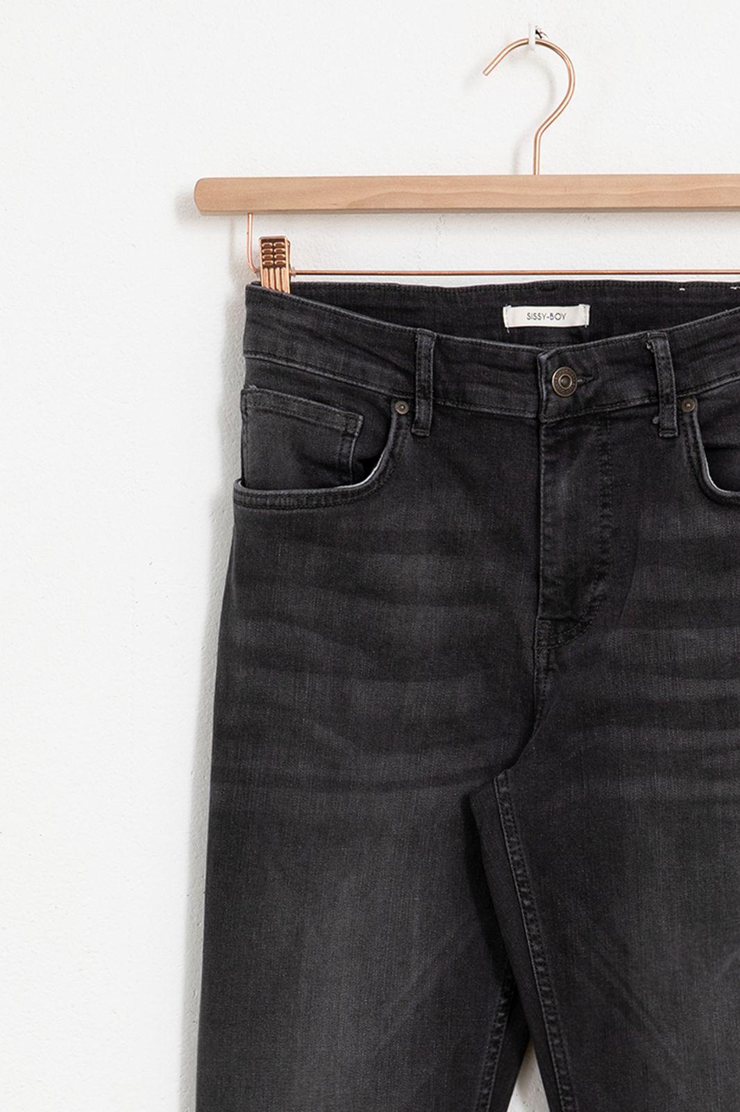 Donkergrijze slim fit denim jeans - Heren | Sissy-Boy