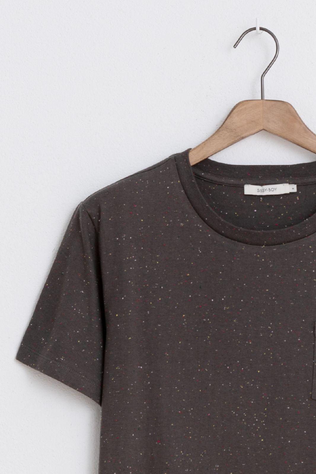 Groen/grijs t-shirt met borstzak Essential - Heren   Sissy-Boy