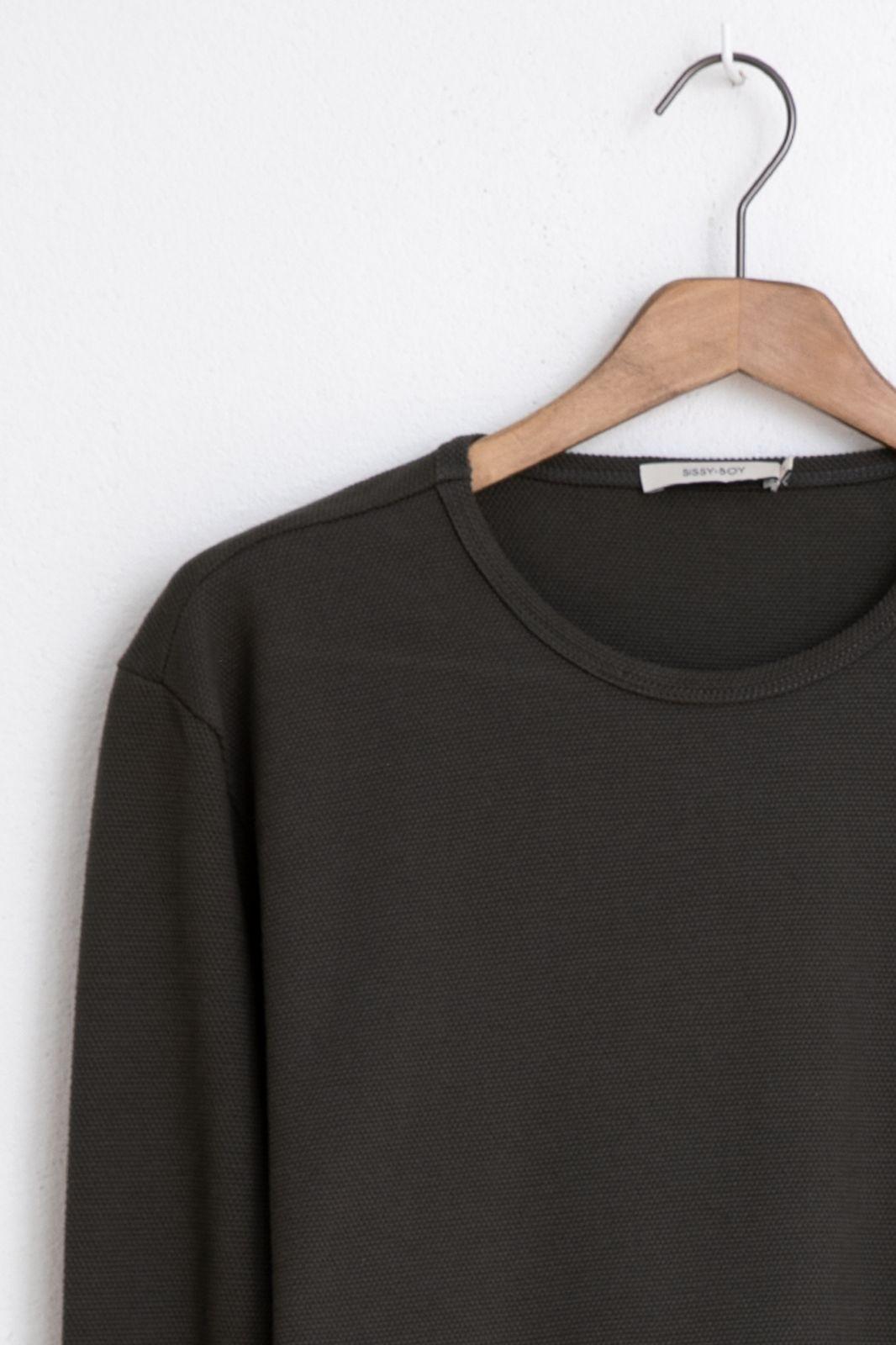 Donkergroen t-shirt structuur - Heren   Sissy-Boy