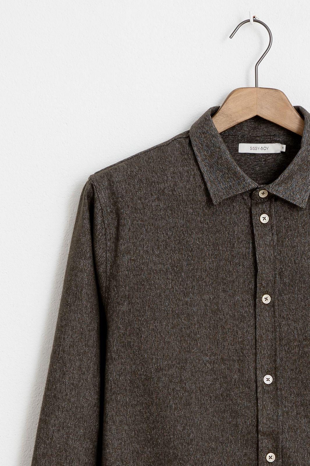 Groen/grijs overhemd wol look - Heren | Sissy-Boy