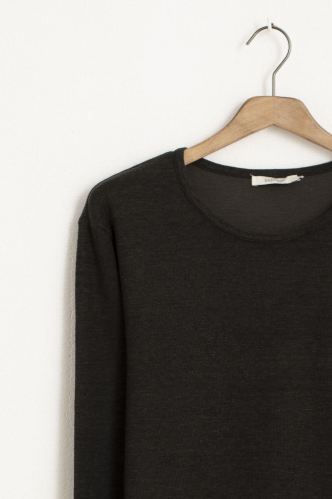 Donkergroen katoenen interlock T-shirt