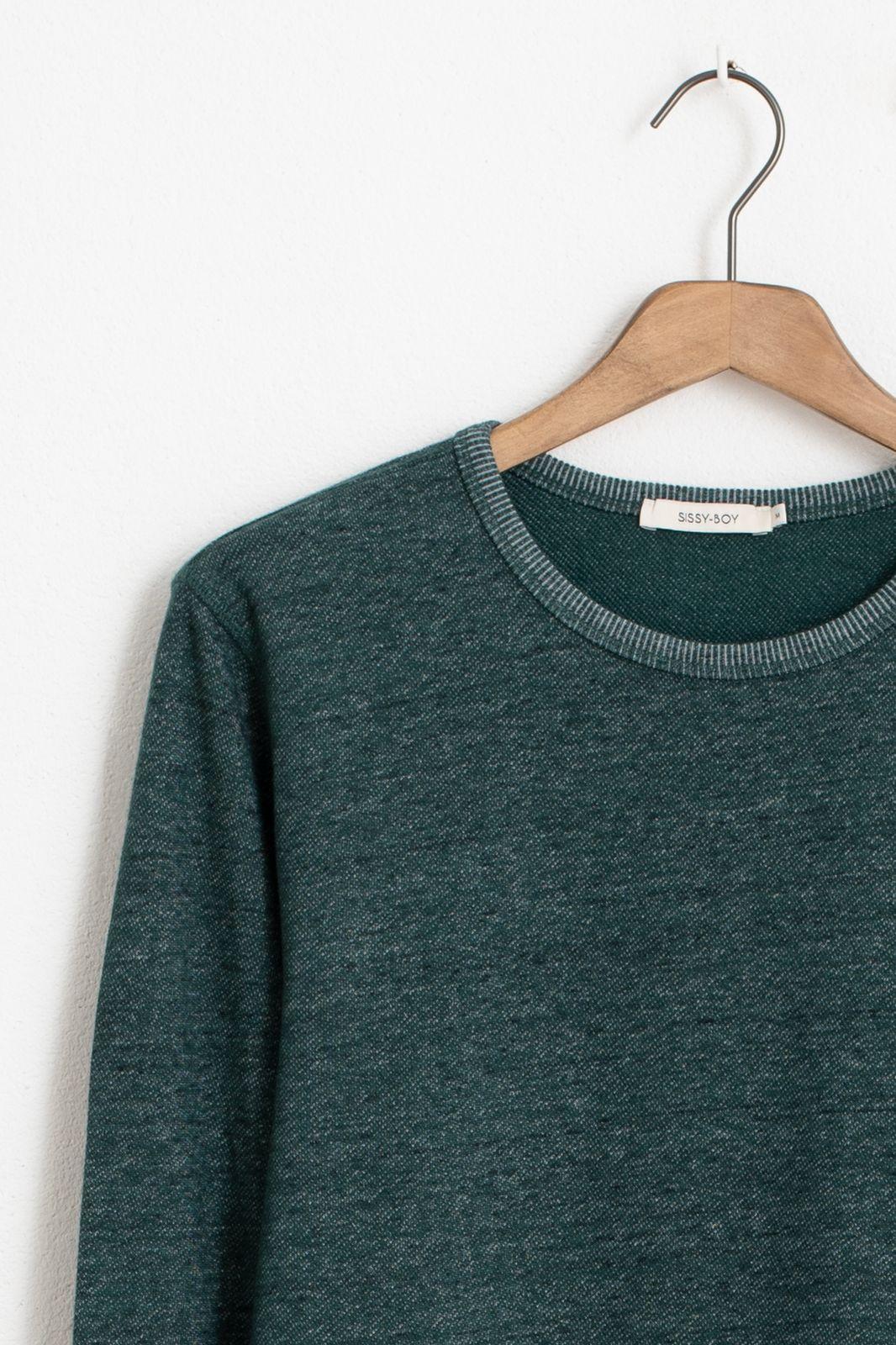 Donkergroen T-shirt structuur - Heren | Sissy-Boy