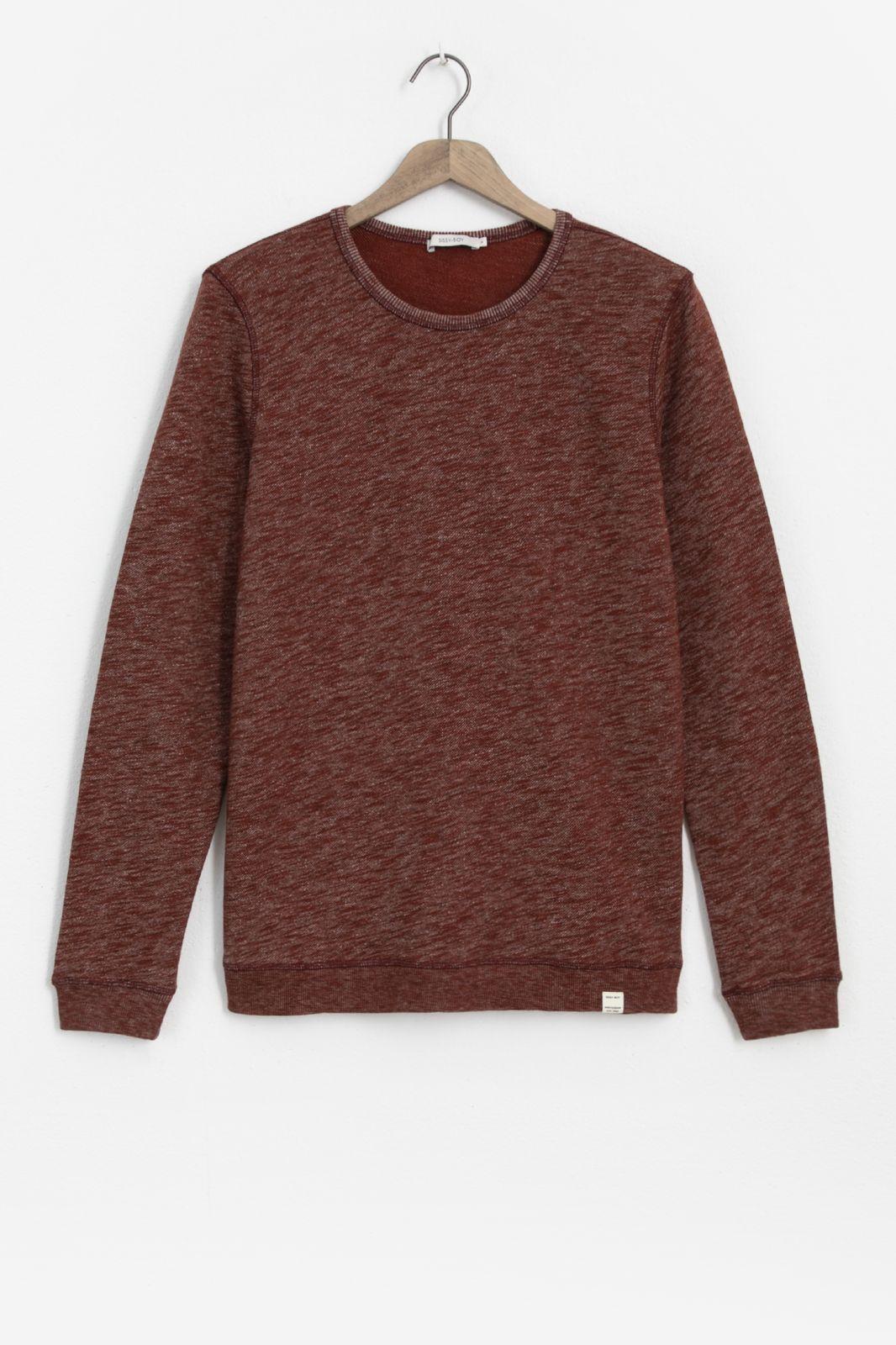Donkeroranje sweater melange - Heren | Sissy-Boy
