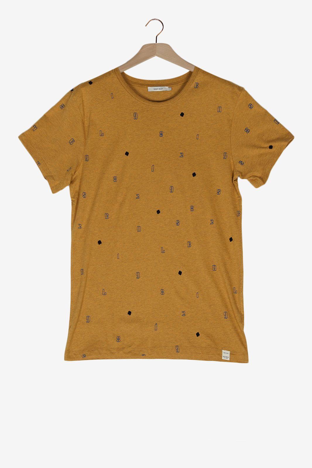 Geel melange t-shirt - Heren | Sissy-Boy