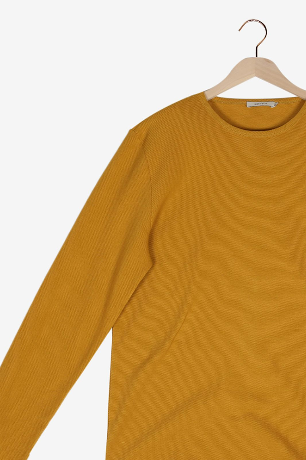 Geel T-shirt lange mouwen - Heren   Sissy-Boy