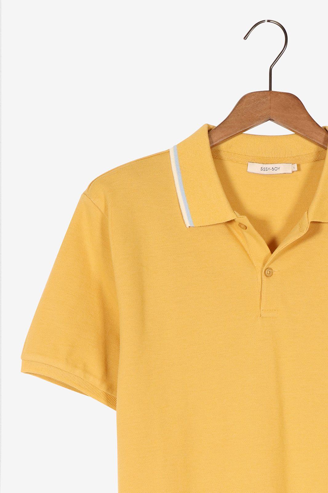 Gele polo met borduursel - Heren | Sissy-Boy