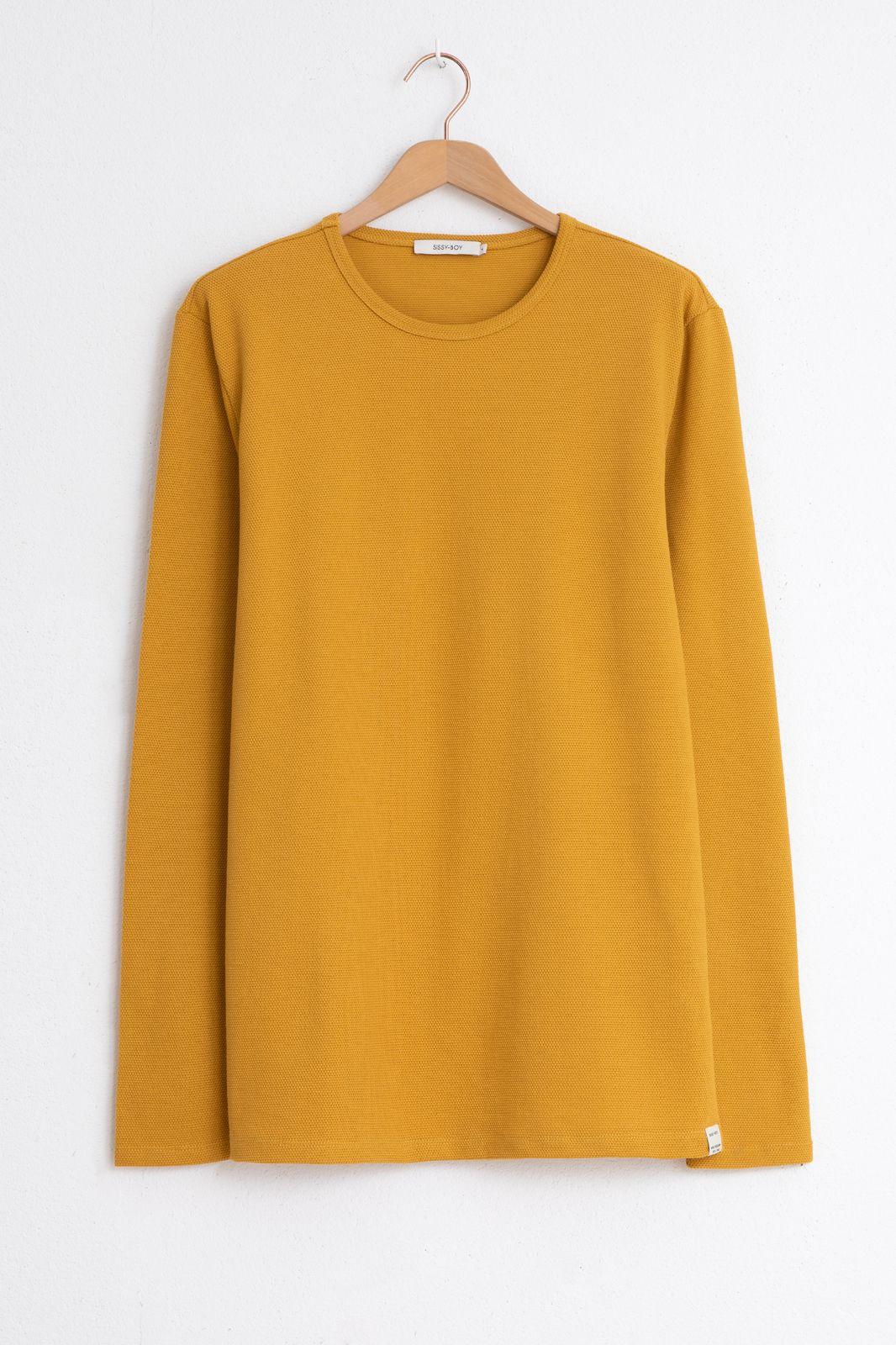 Geel T-shirt structuur