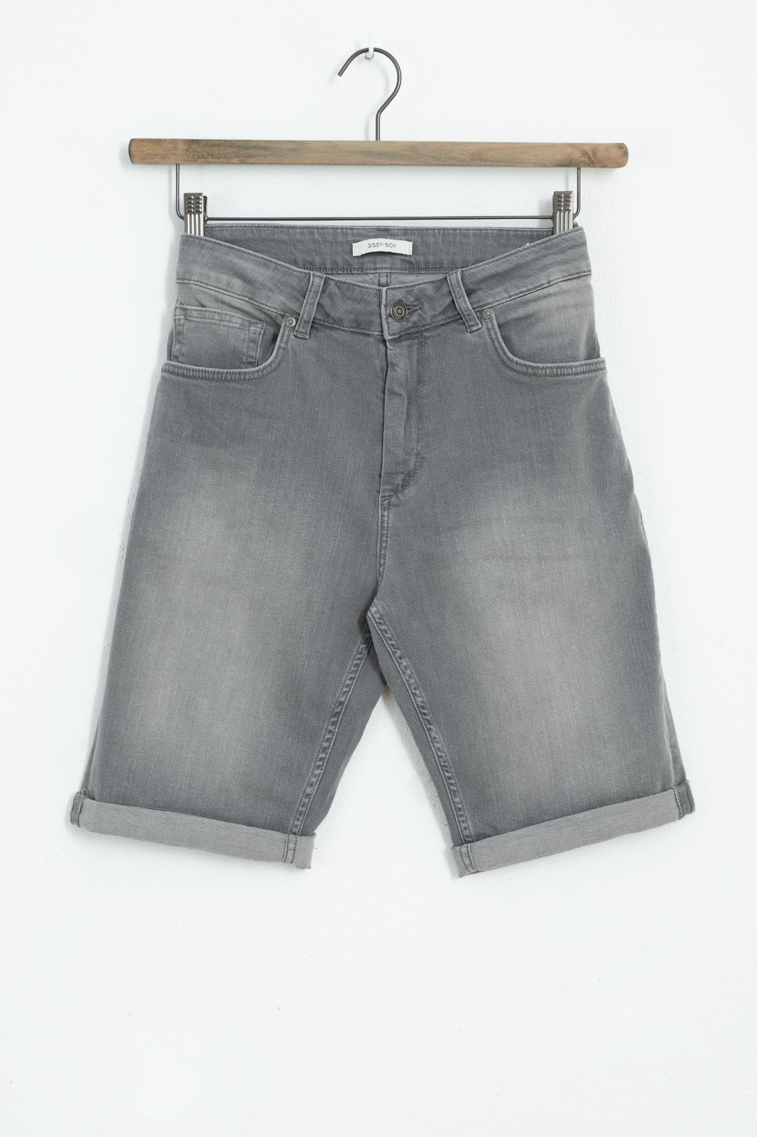 Grijs denim short