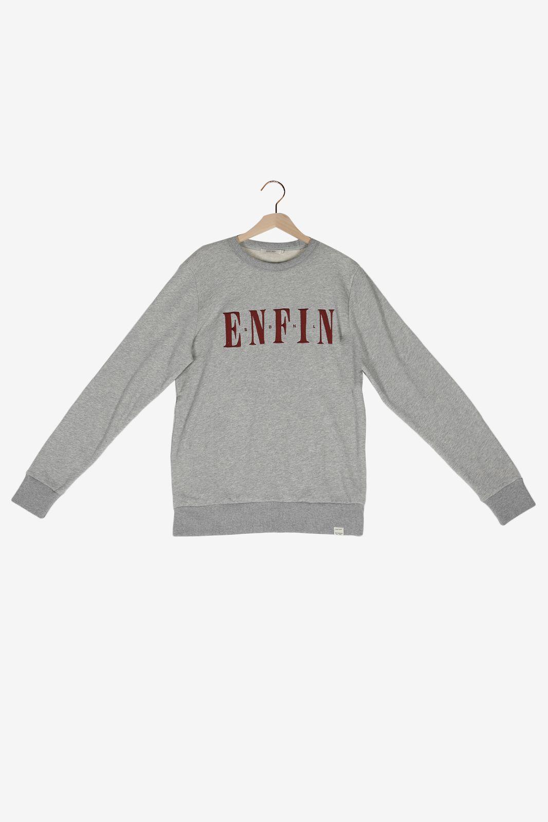 Grijze sweater met tekst